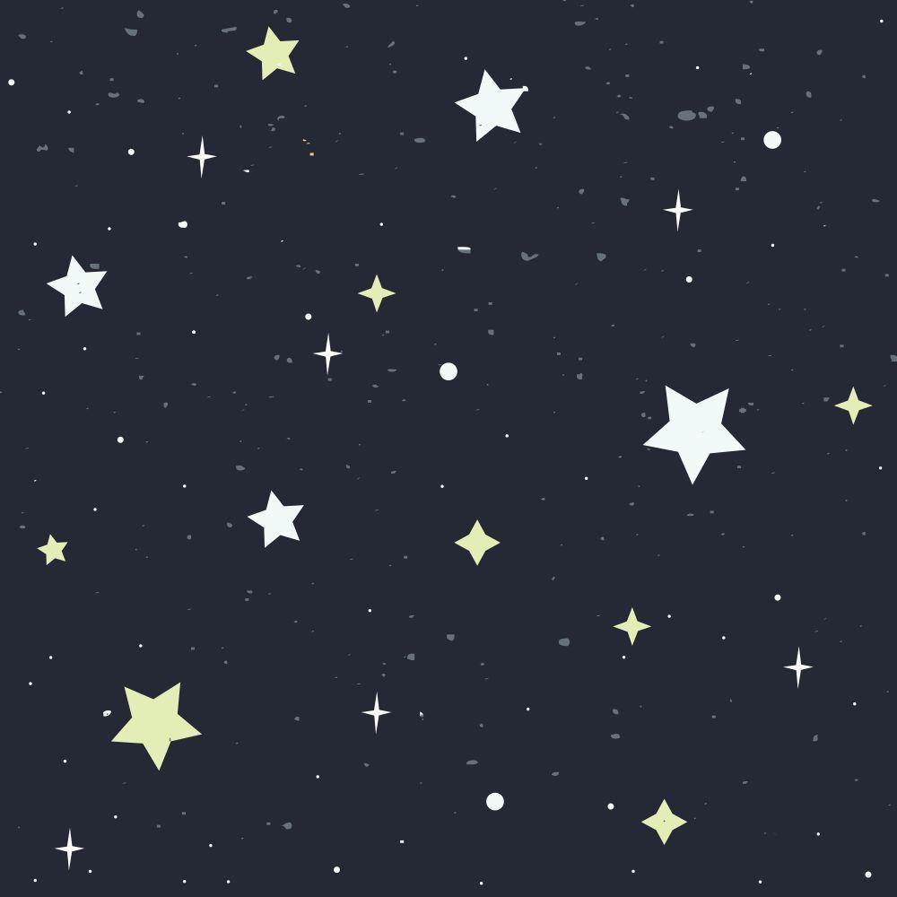 Papel de Parede Adesivo Universo Estrelado