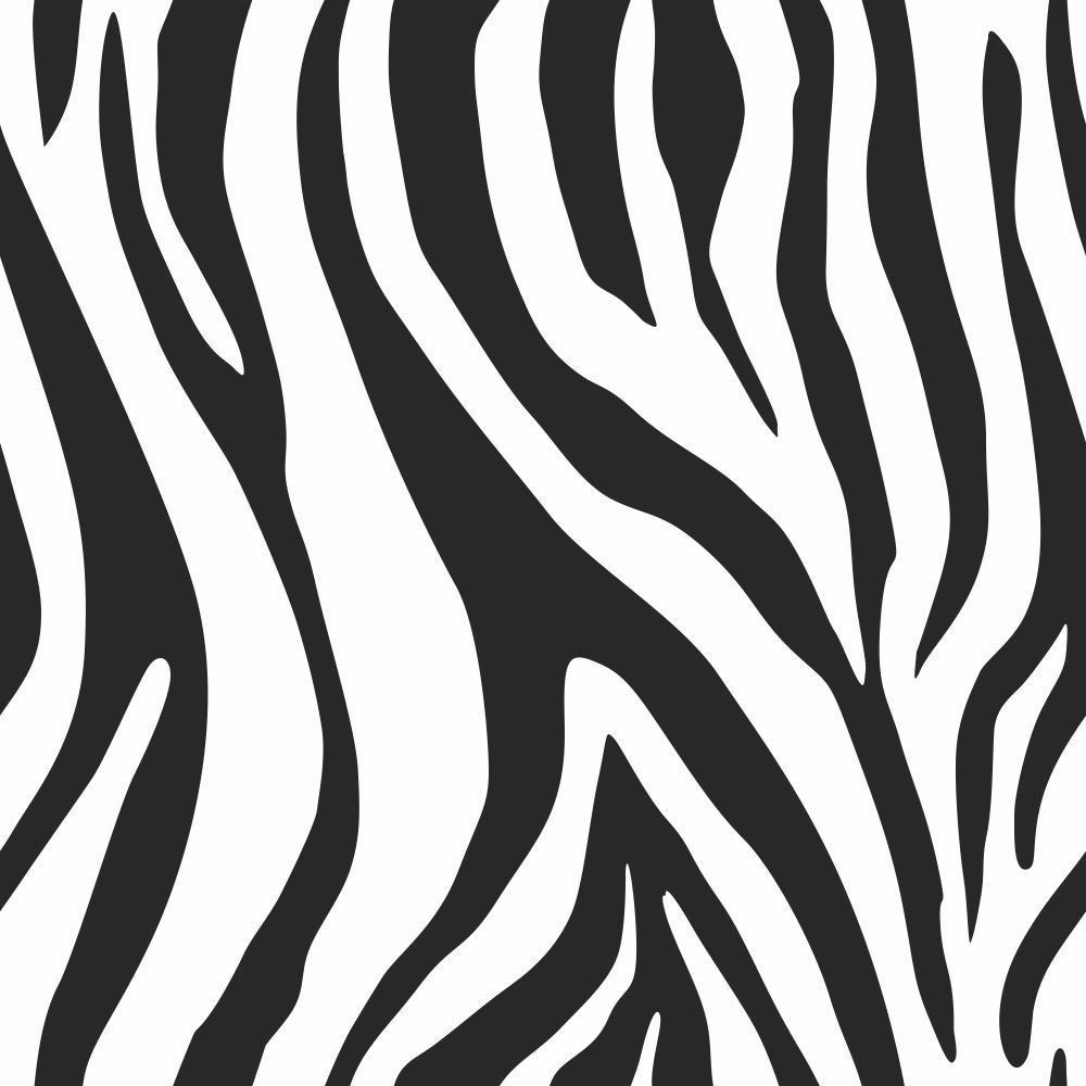Papel de Parede Adesivo Zebra Print