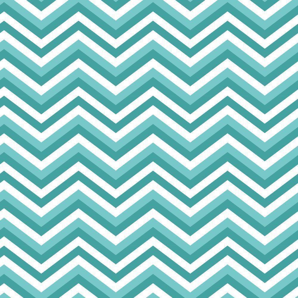 Papel de Parede Adesivo Zig Zag Tons de Azul