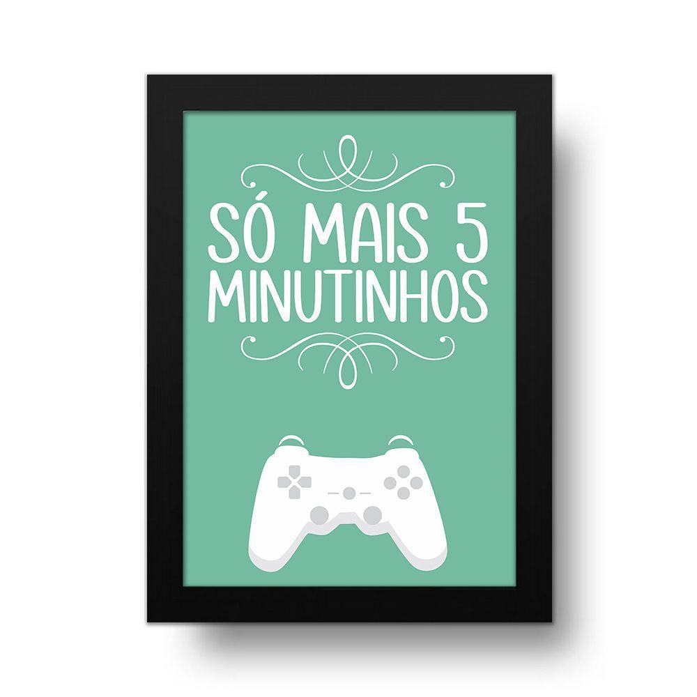 Placa Decorativa 5 MINUTINHOS