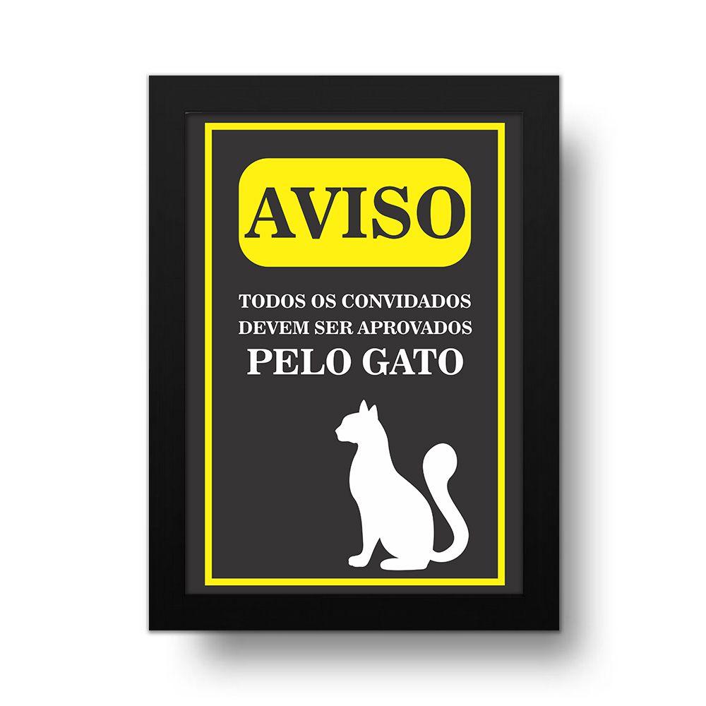Placa Decorativa Aprovado Pelo Gato