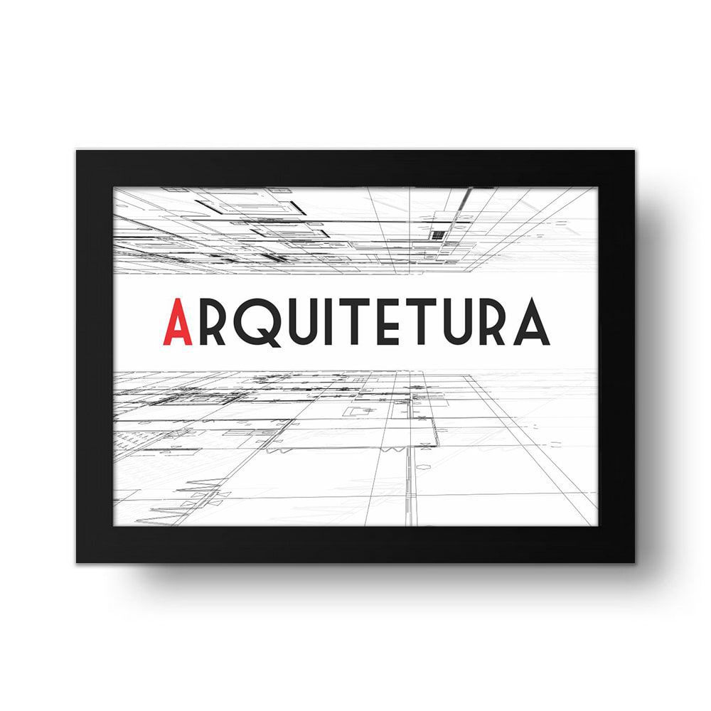 Placa Decorativa Arquitetura