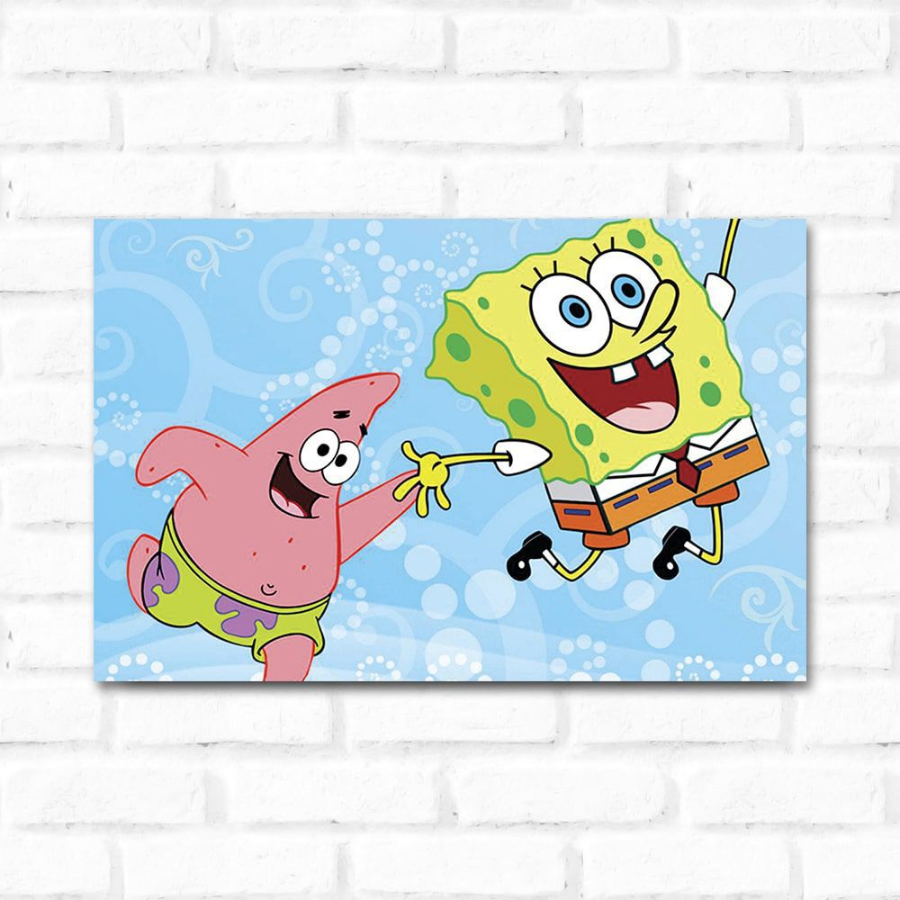 Placa Decorativa Bob Esponja 1