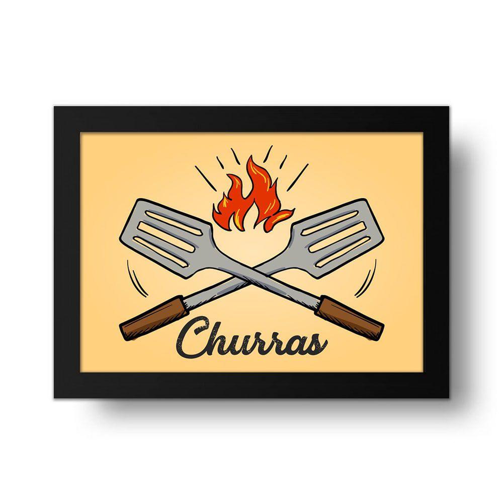 Placa Decorativa Churras