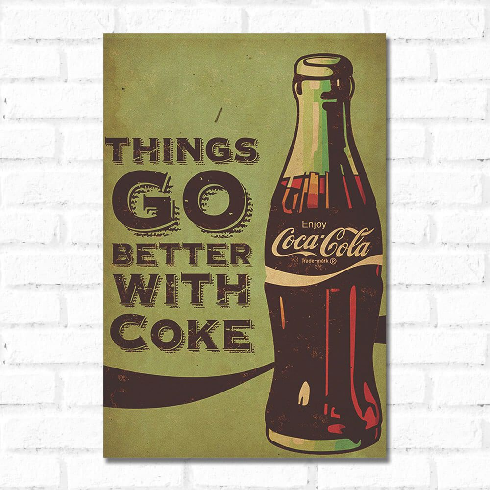 Placa Decorativa Coca Cola Retrô