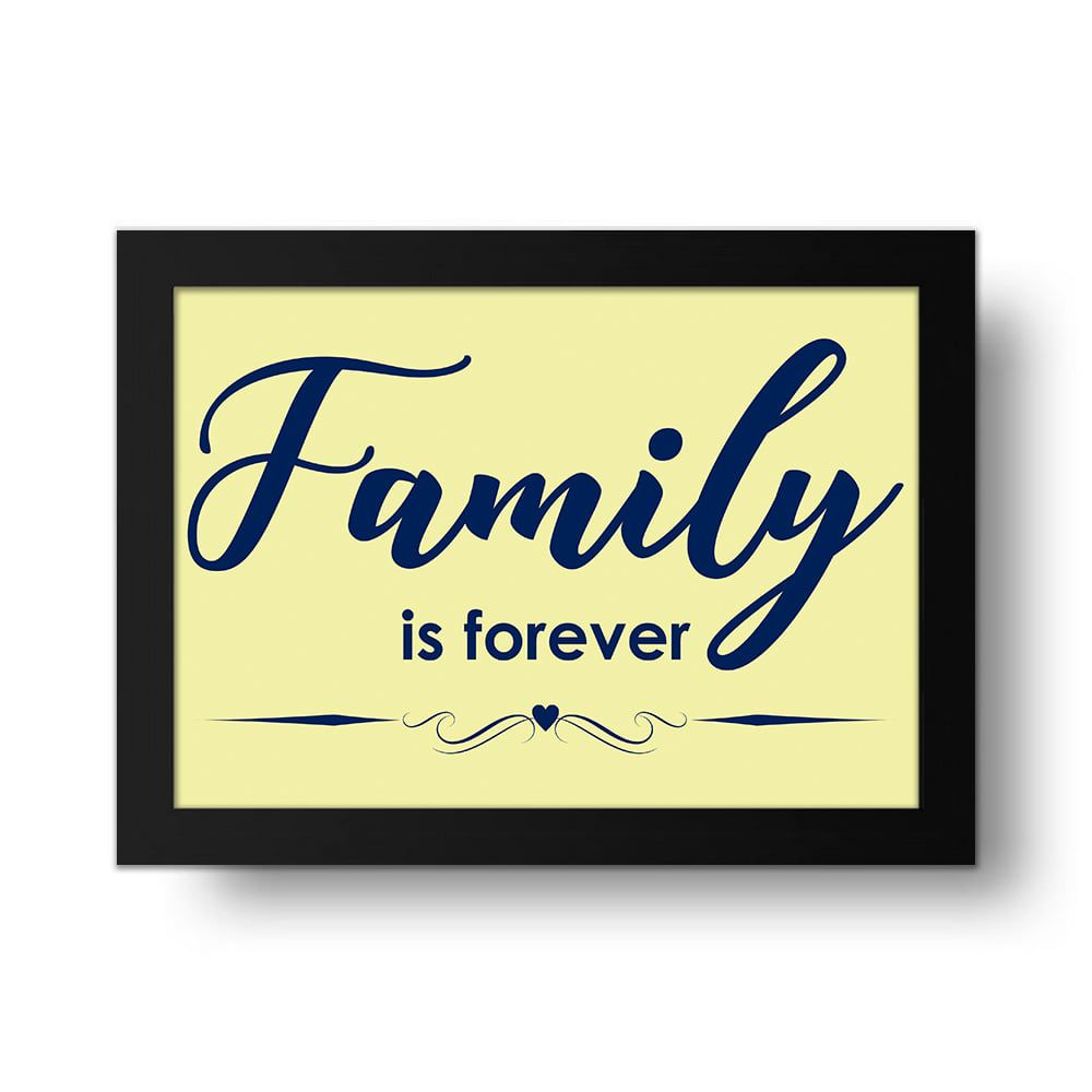 Placa Decorativa Family is Forever