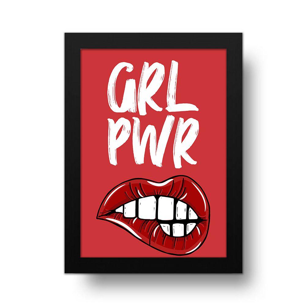 Placa Decorativa Grl Pwr