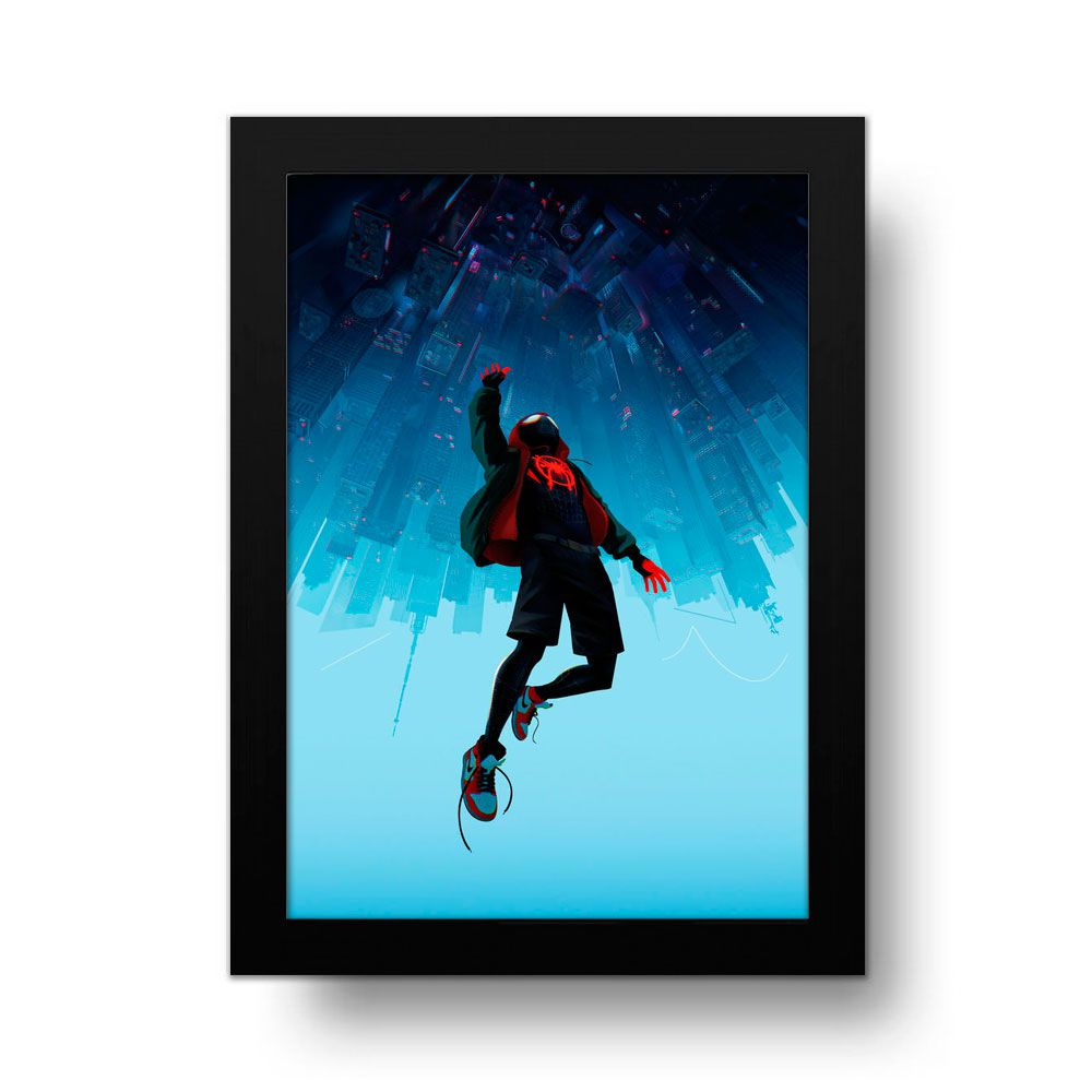 Placa Decorativa Homem Aranha no Aranhaverso