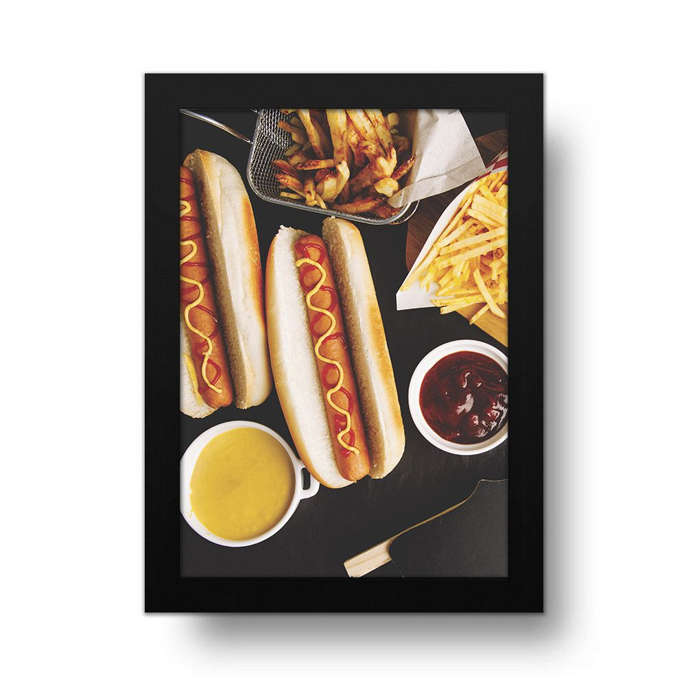 Placa Decorativa Hot Dog