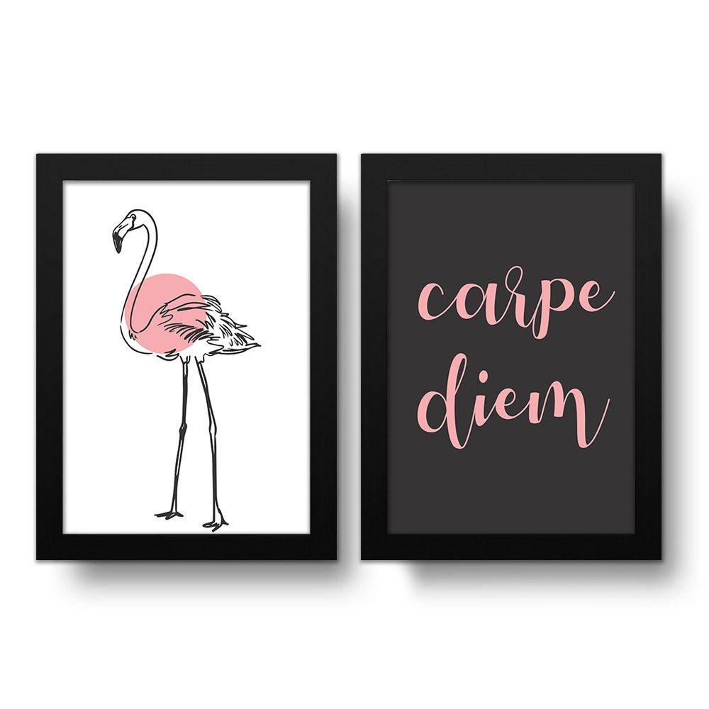 Placa Decorativa Kit Carpe Diem