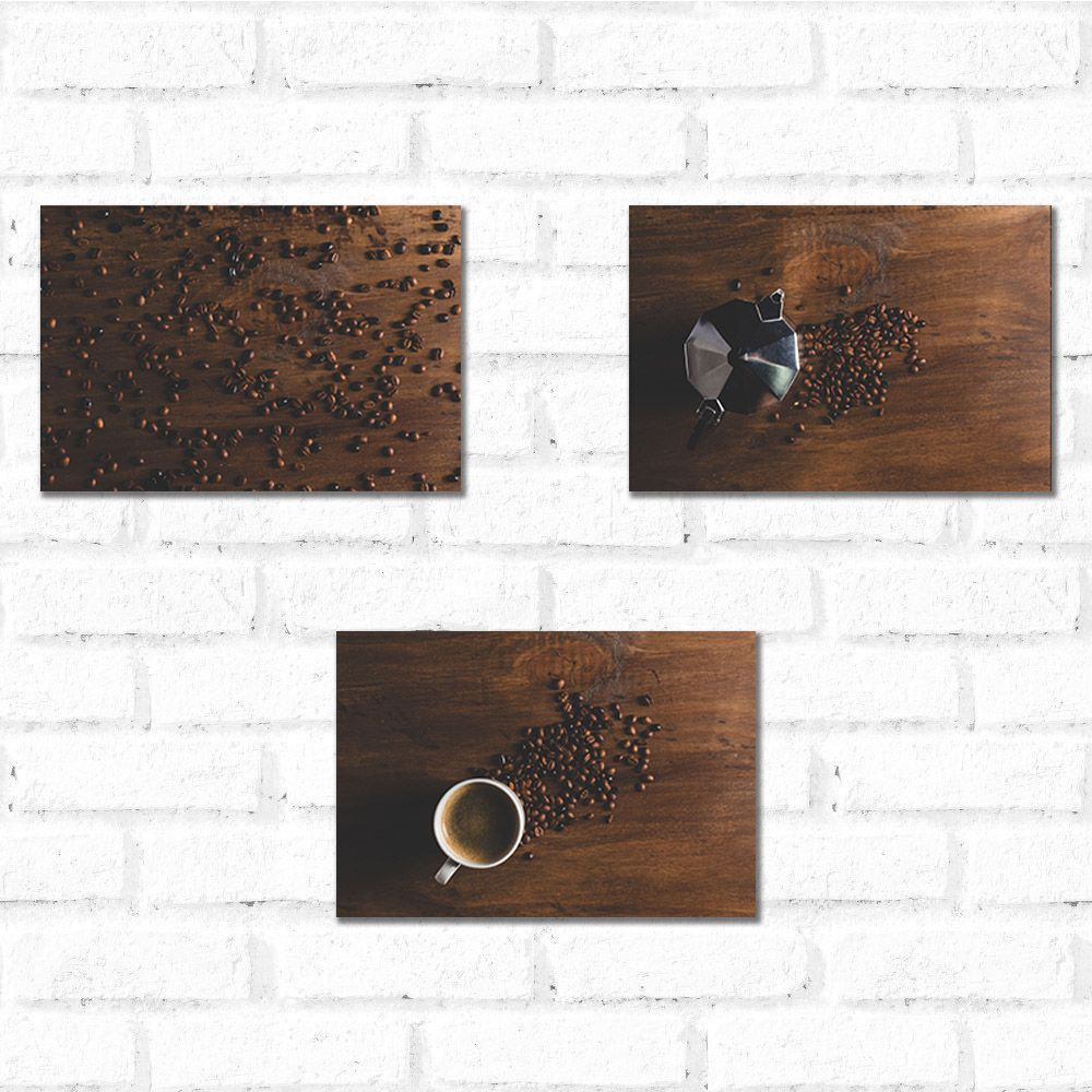 Placa Decorativa Kit Coffe Time