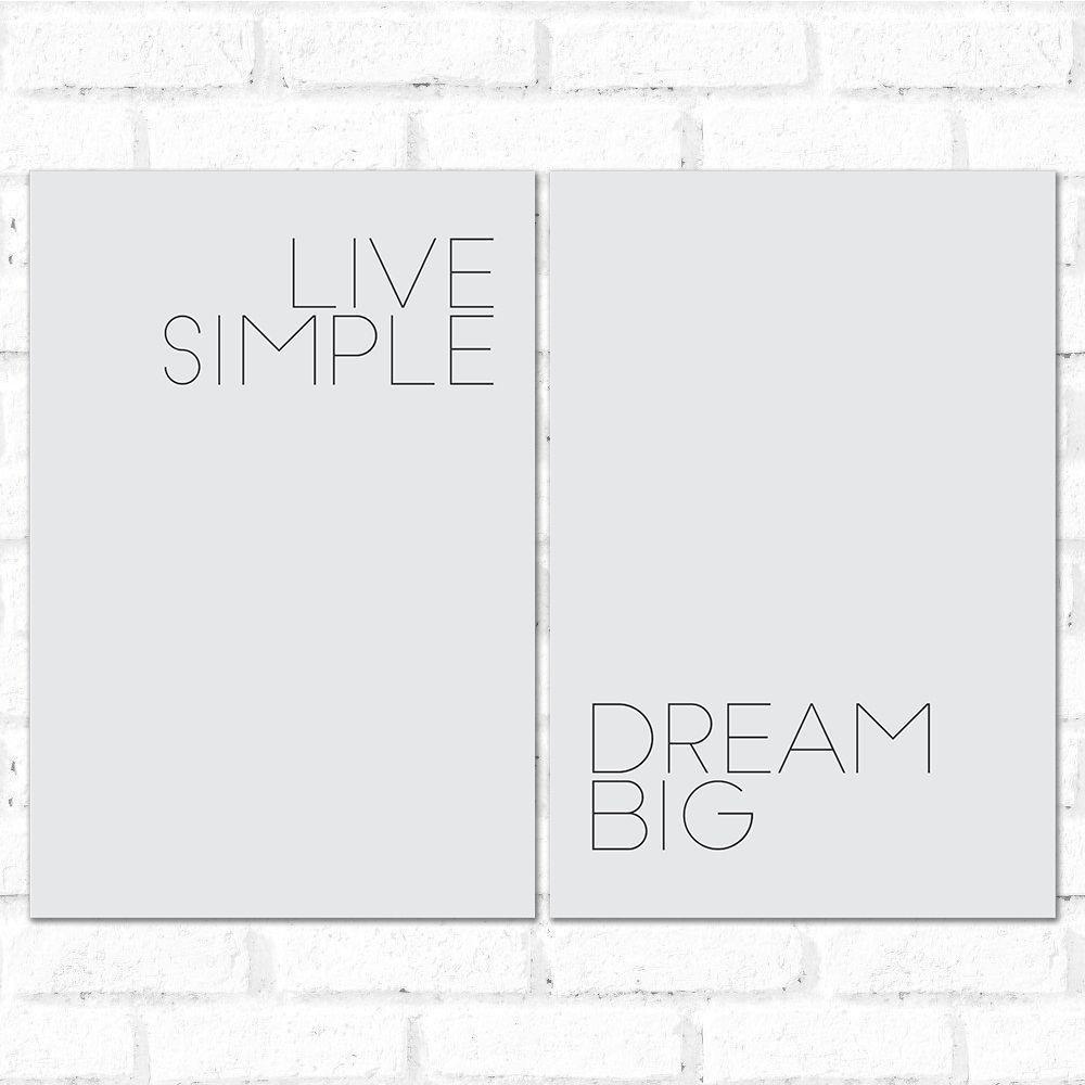 Placa Decorativa Kit Dream Big