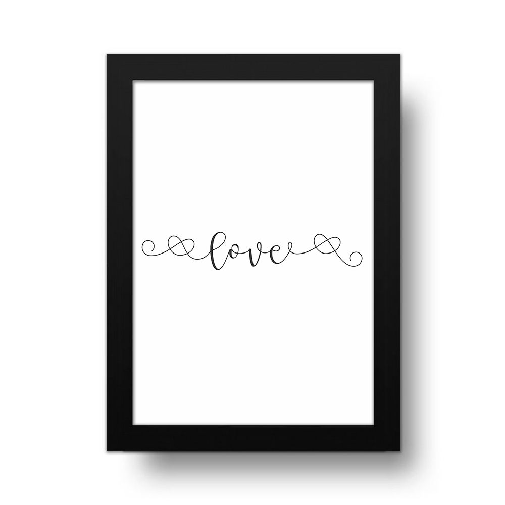 Placa Decorativa live Minimalist