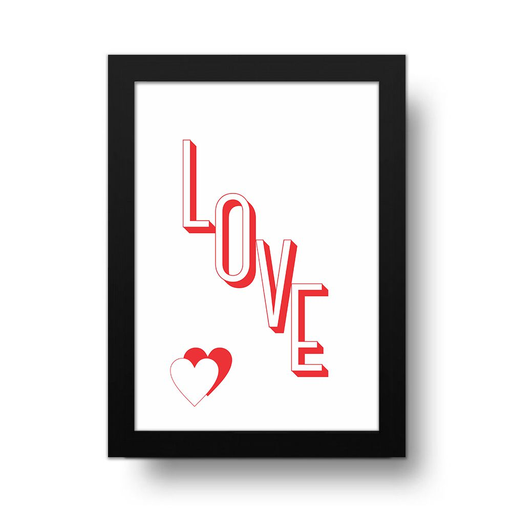 Placa Decorativa Love 3D