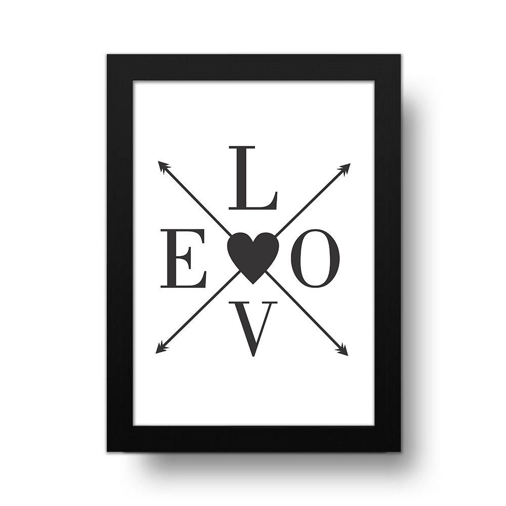 Placa Decorativa love Arrows