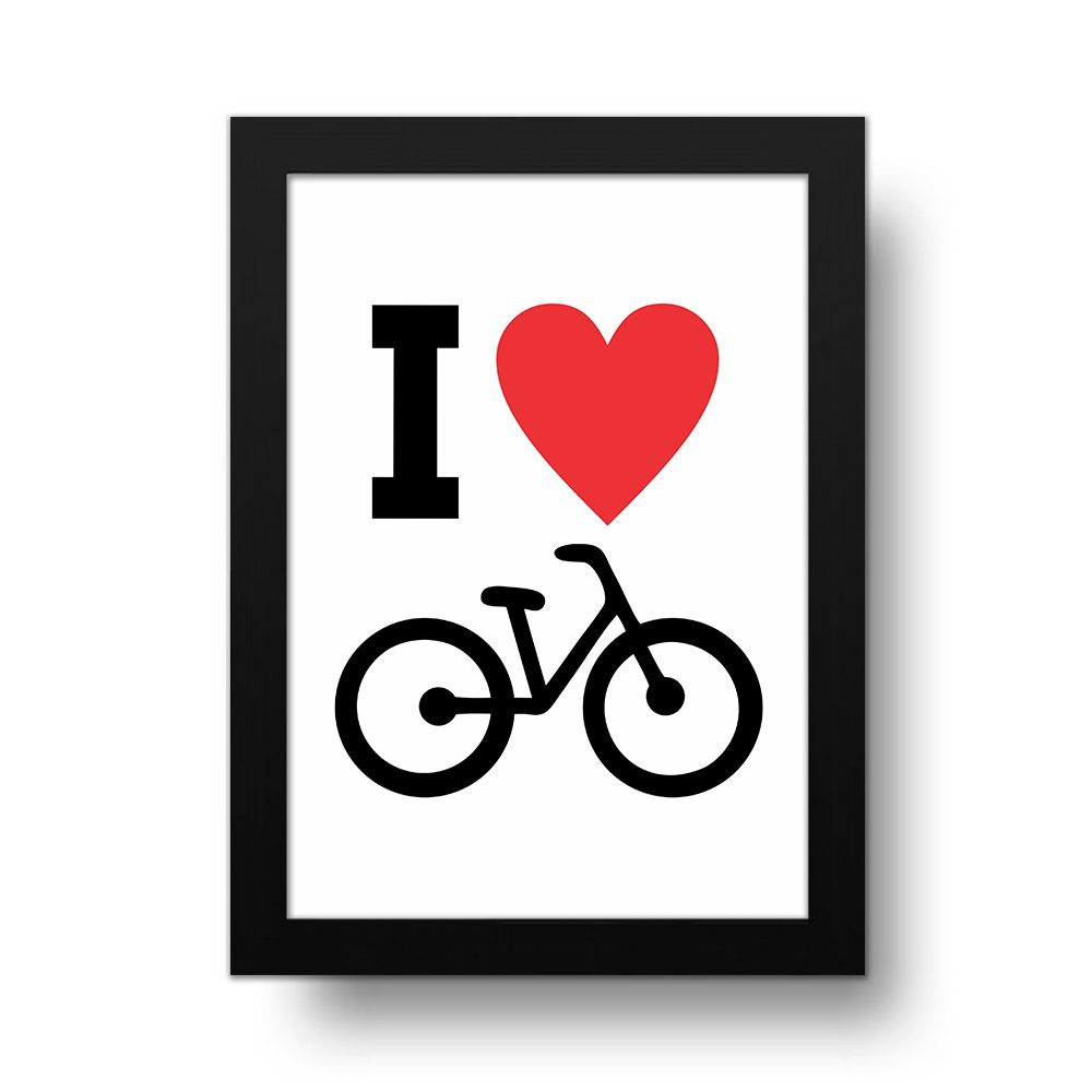 Placa Decorativa Love Bike