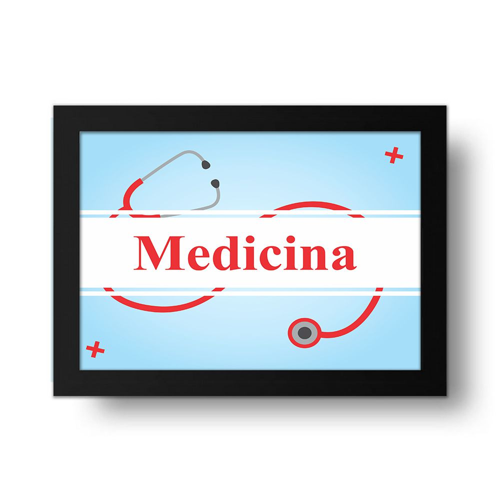 Placa Decorativa Medicina
