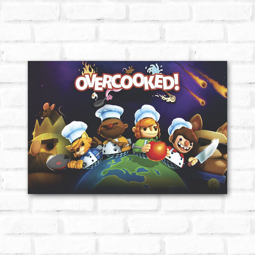 Placa Decorativa Overcooked