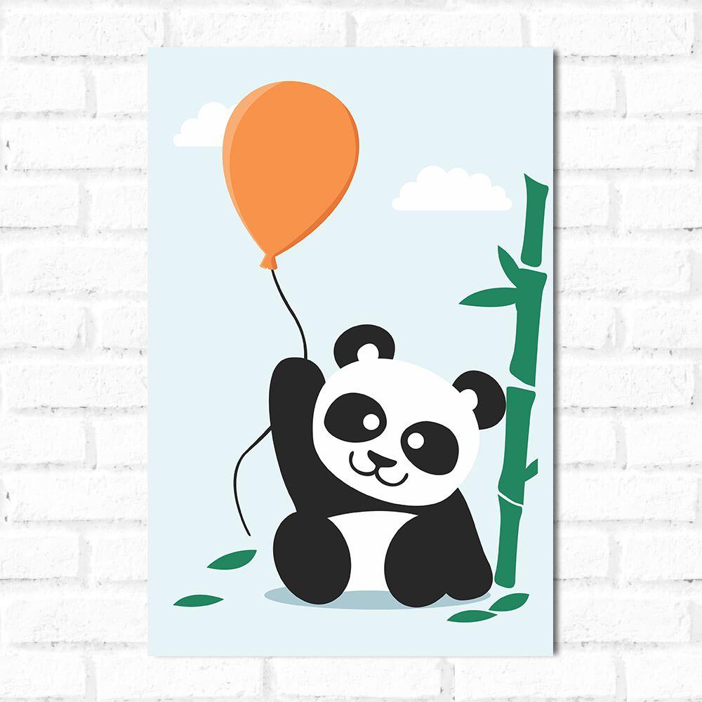 Placa Decorativa Panda Bexiga