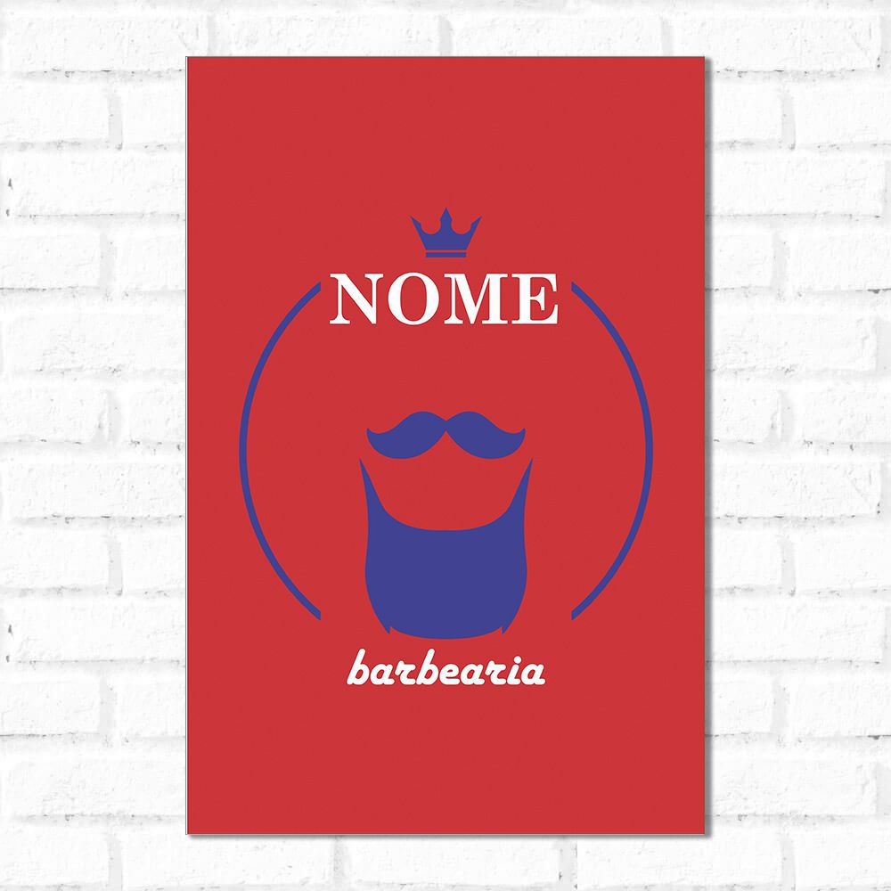 Placa Decorativa Personalizado Barba Red