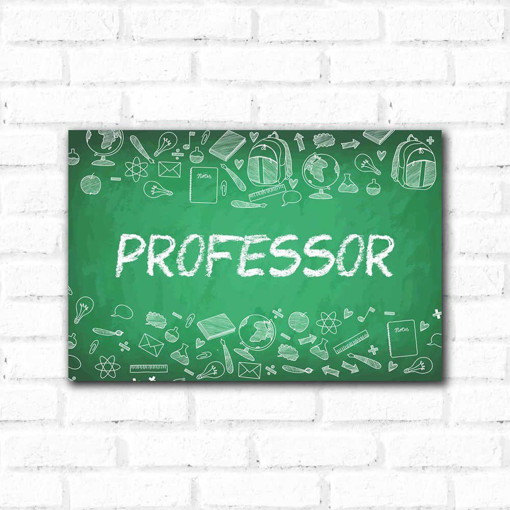 Placa Decorativa Professor