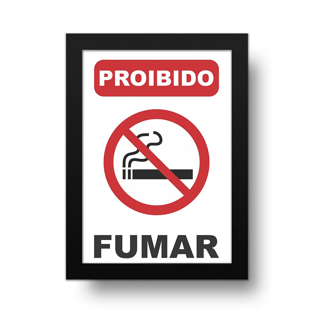 Placa Decorativa Proibido Fumar