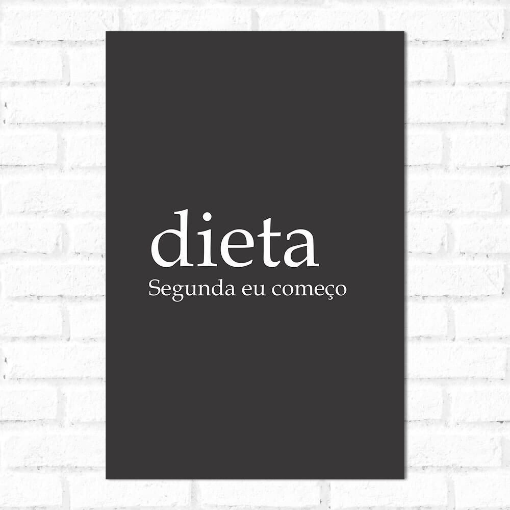 Placa Decorativa Significado Dieta