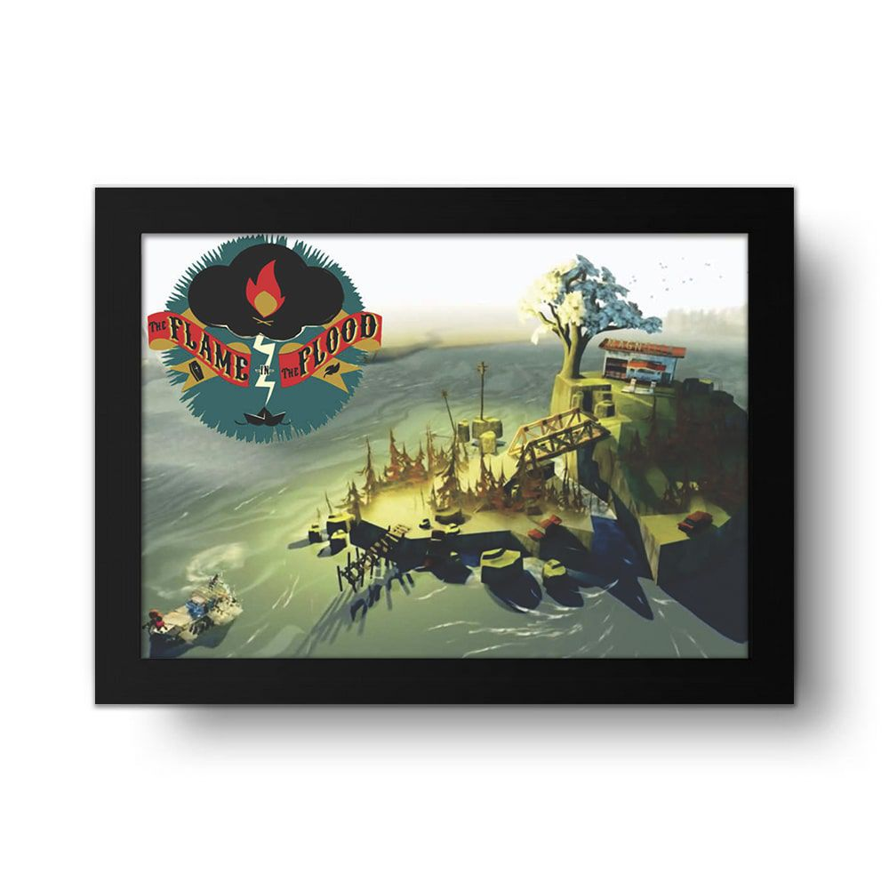 Placa Decorativa The Flame In The Flood