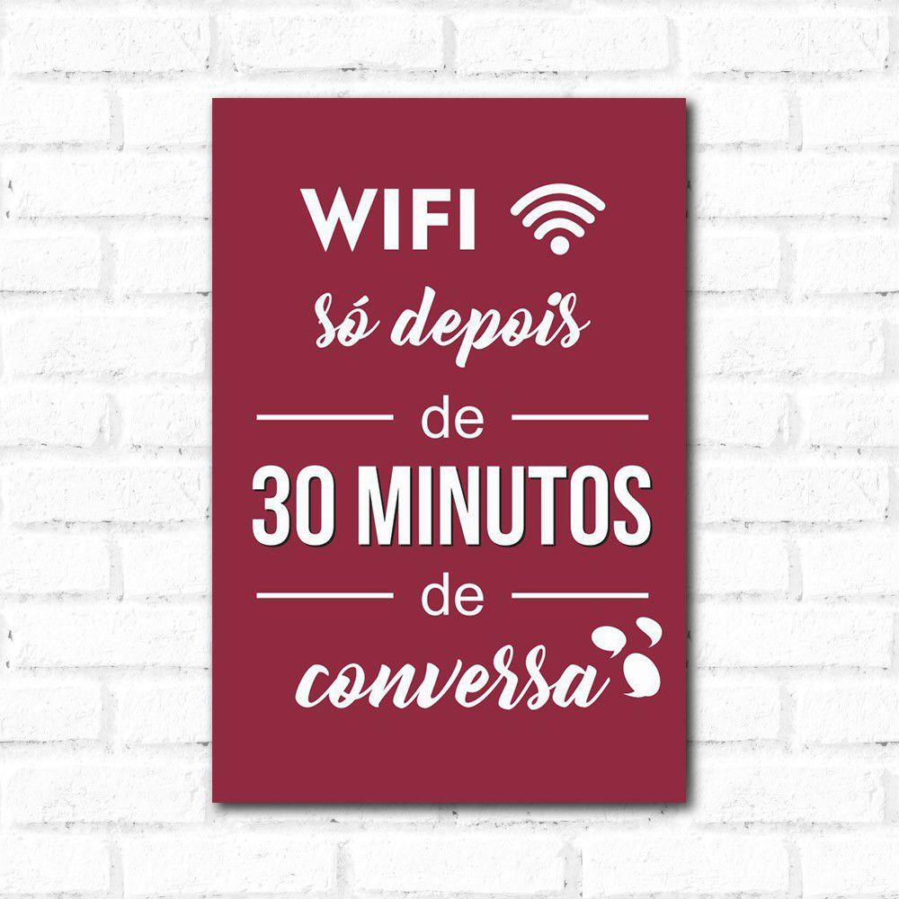 Placa Decorativa Wifi