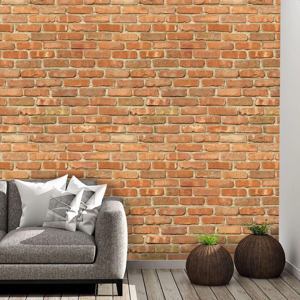 PROMOÇÃO - Papel de Parede Tijolo à Vista (50cm x 2,25m)