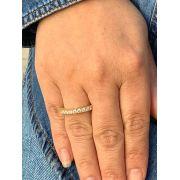 Anel Folheado dourado com zirconias tam17 | ANF16
