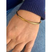 Pulseira Folheada Dourada tipo bracelete | PF523