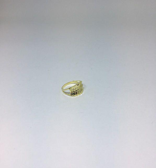 Anel Folheado Dourado detalhes na frente tam22 | ANF21