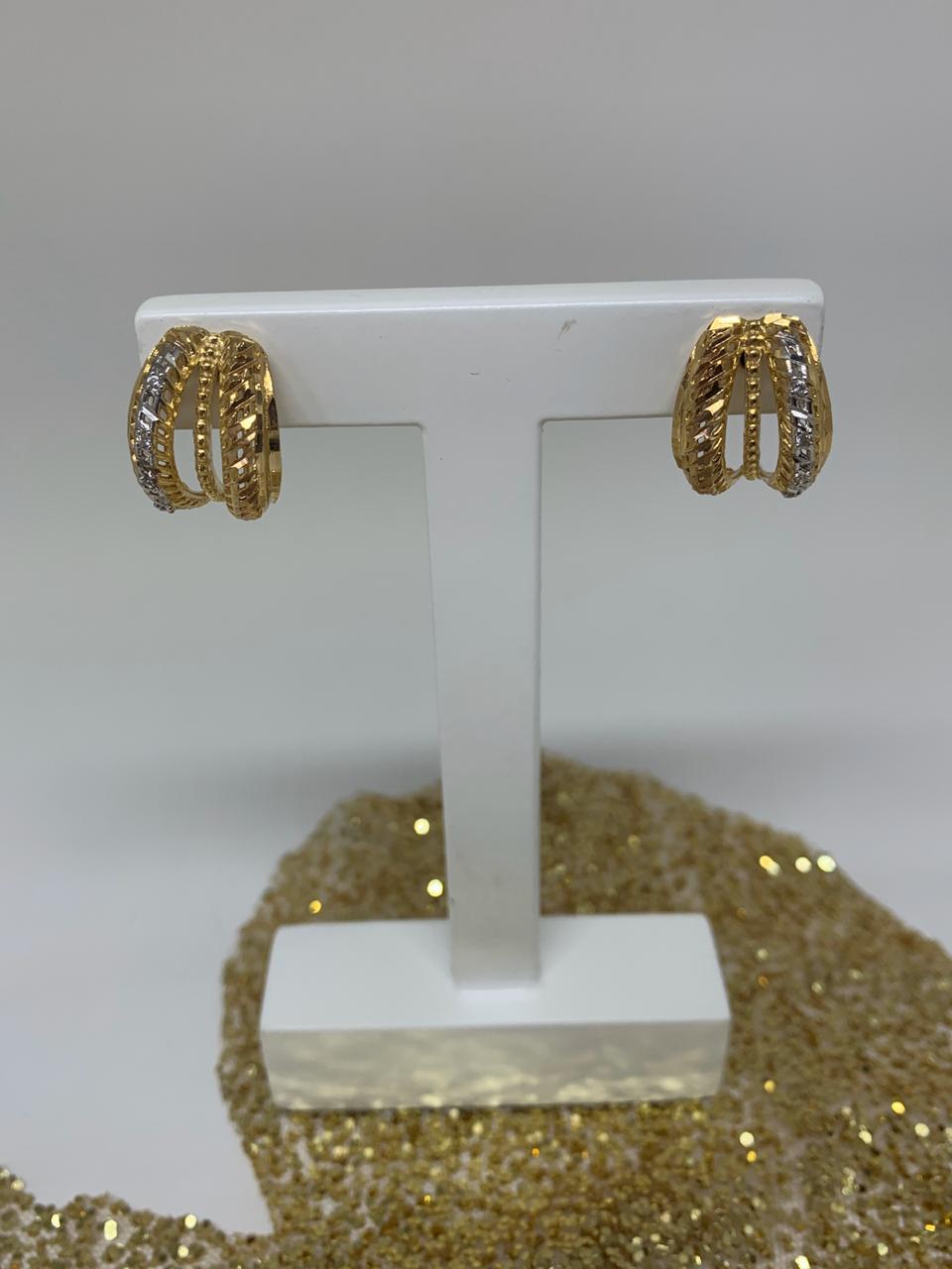 Brinco Folheado Réplica De Joia Filete Ouro, Prata e Rosê  | BF04