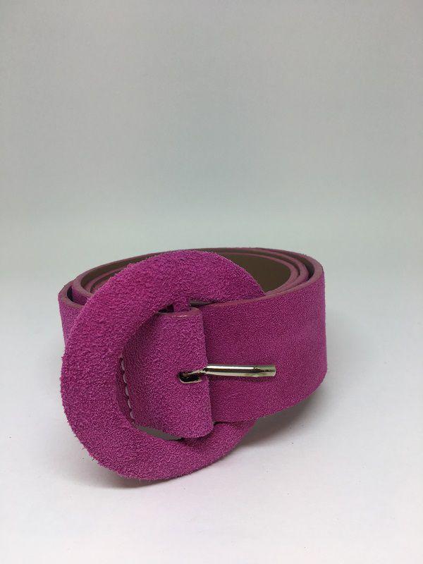 Cinto de Couro Rosa pink | AC81