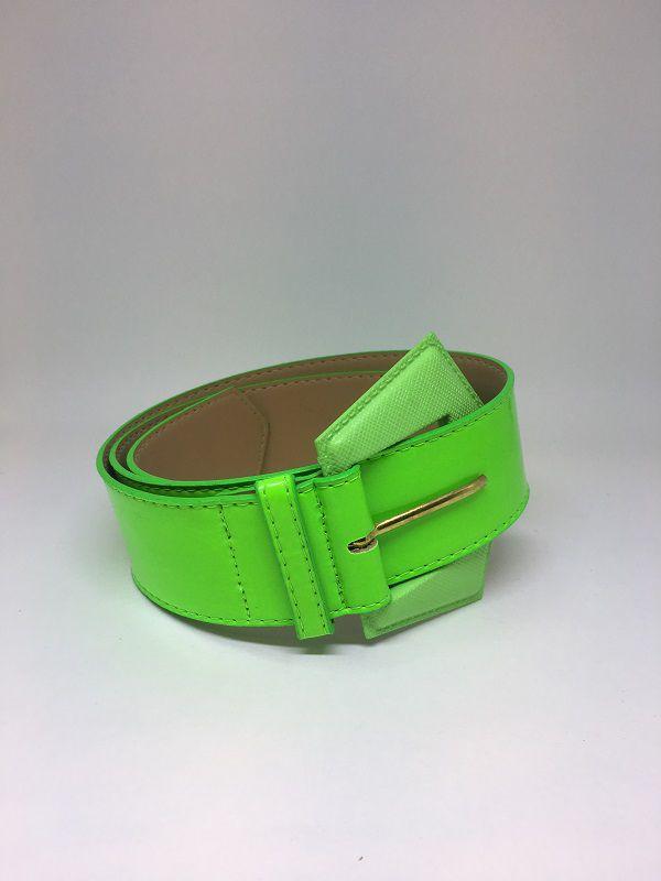 Cinto de Couro sintético verde neon | AC83