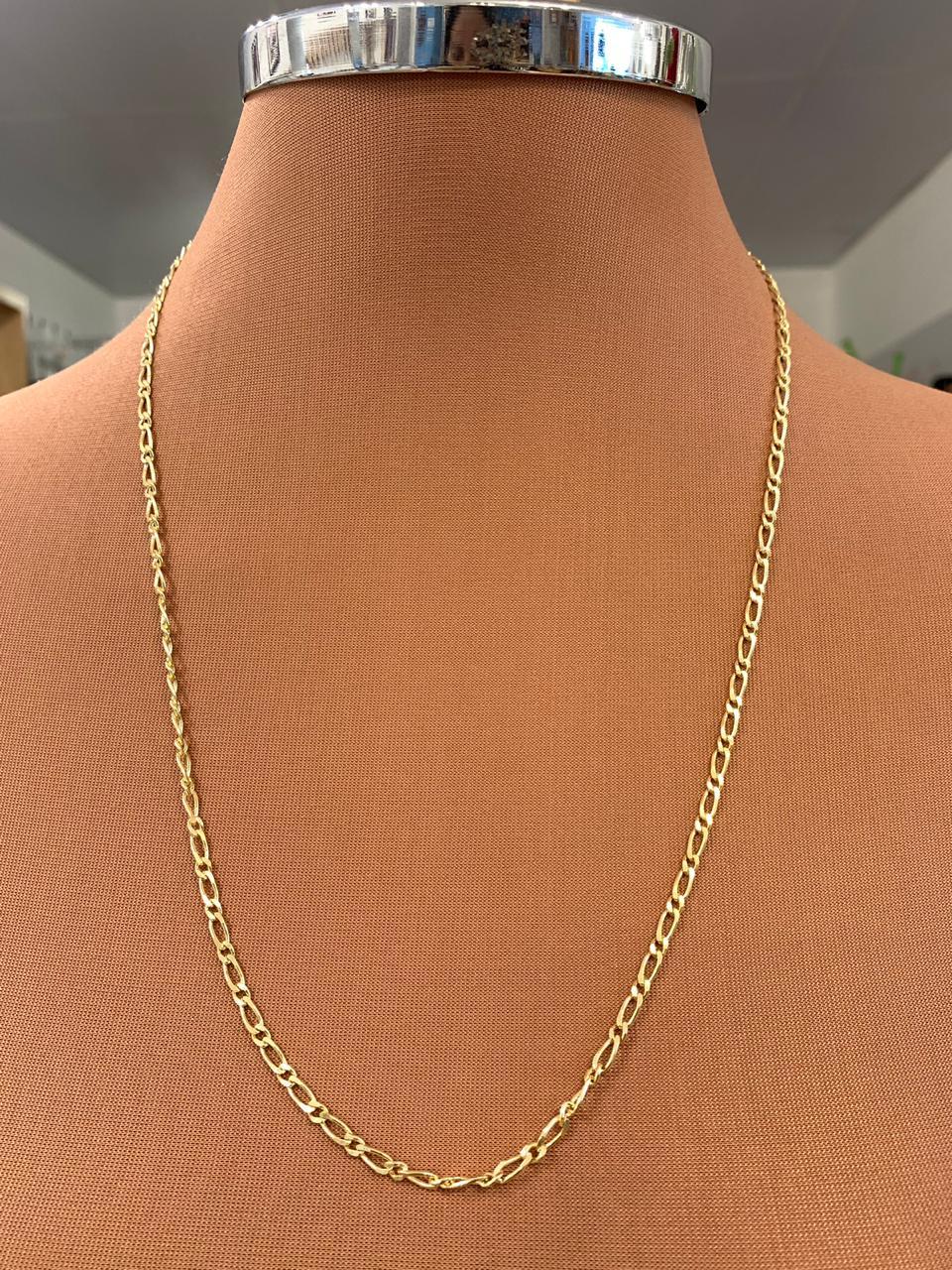 Colar Folheado Dourado Corrente    CF347