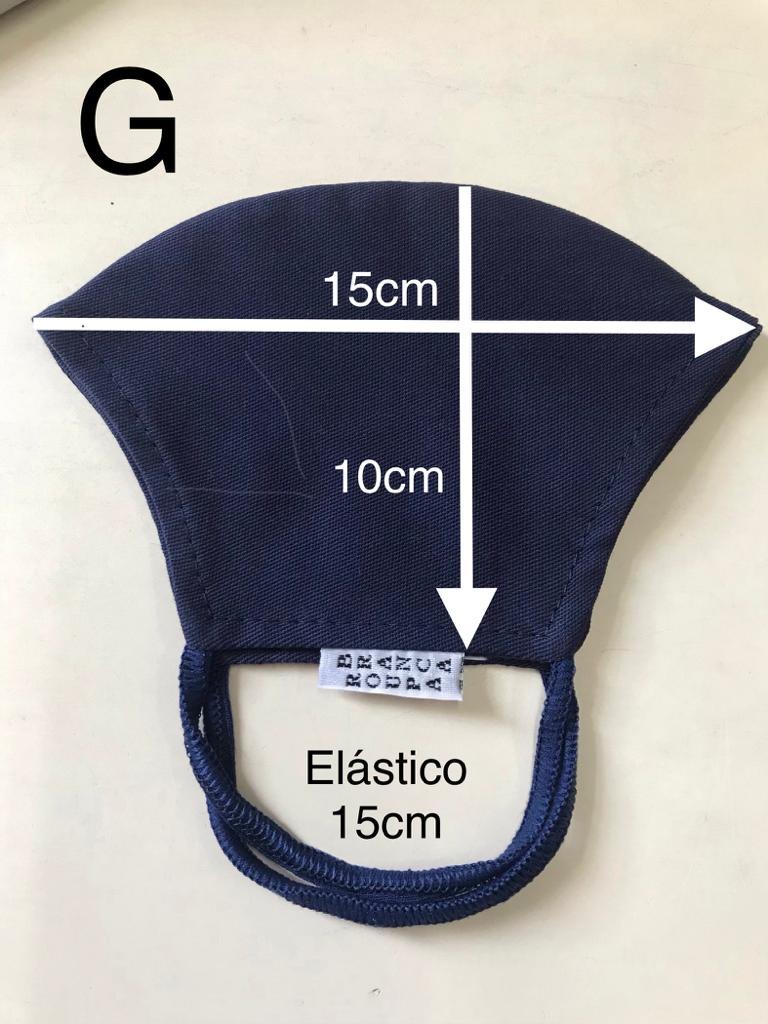 Máscara Anatômica Preta camada dupla de tecido 100% algodão | AC310