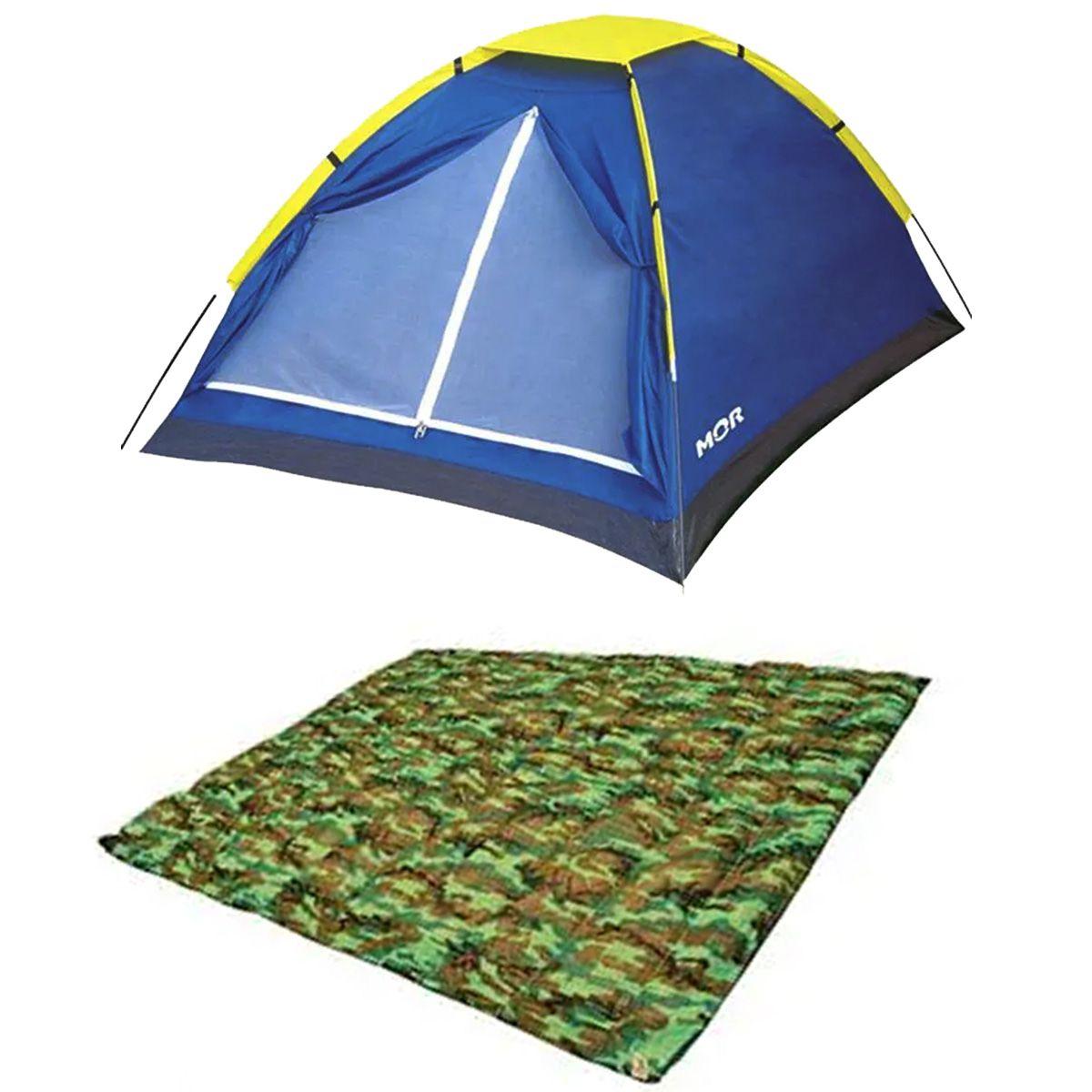 Barraca Camping 2 Pessoas Mor 2,05x1,45 + Colchonete Casal Montlong