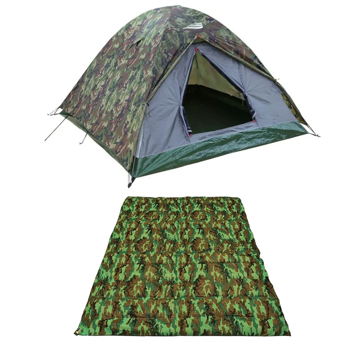 Barraca Camping Selva Camuflada 3/4 Pessoas + Colchonete Casal