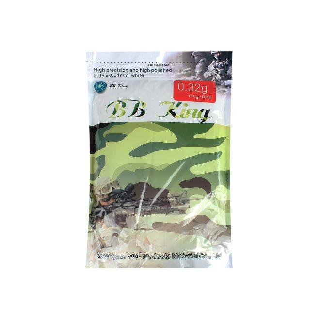 BBs Airsoft Munição Plástica BB King 0.32g 1kg