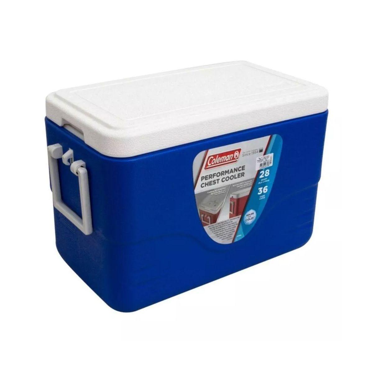 Caixa Térmica Coleman 28Qt 26.4LitrosCom Alça Azul