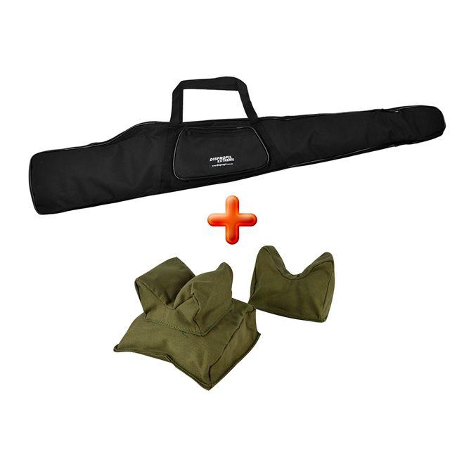 Capa Carabina 1.20 Metros Estofada + Sand Bag Duplo - ALT