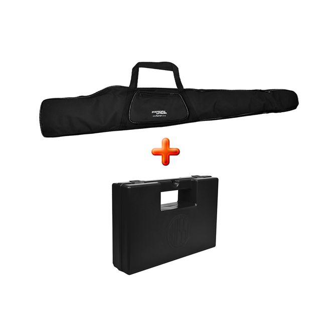 Capa Carabina 1.20 Mts Estofada Forrada + Case Pistola Rossi