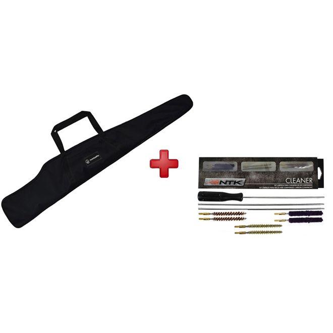 Capa Carabina Simples 120cm+ Kit Limpeza Dois Calibres 4.5 E 5.5