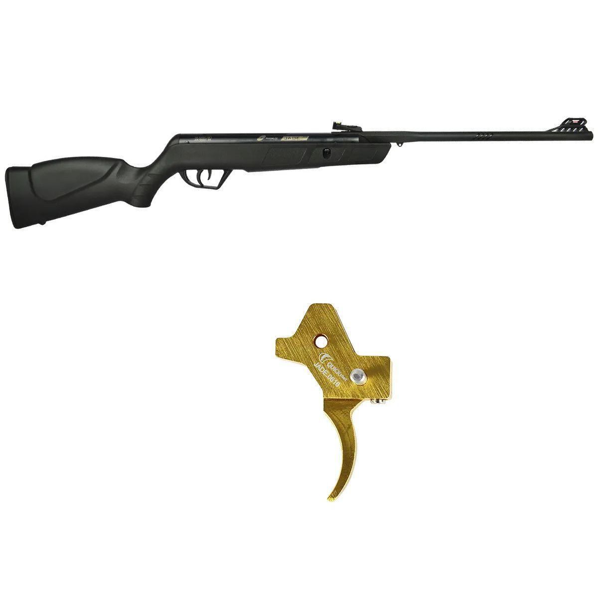 Carabina de Pressão CBC Jade Oxidada Preta 4.5mm + Gatilho Ajustável Dourado