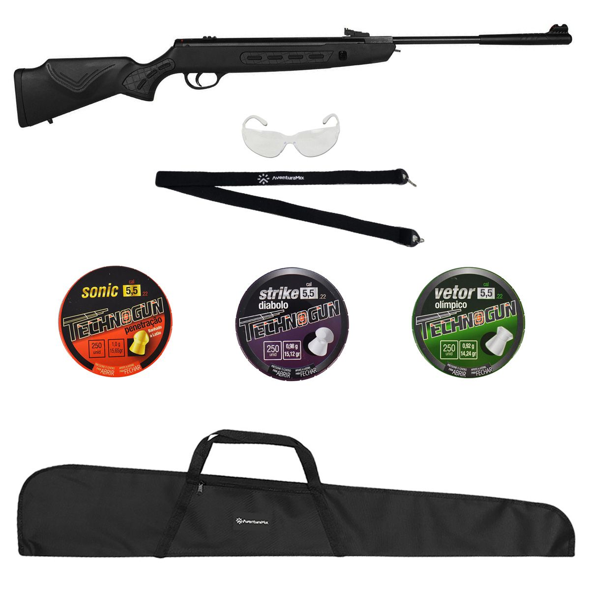 Carabina de Pressão Hatsan StrikerSniper1000S 5.5mm + Brindes + Chumbinhos