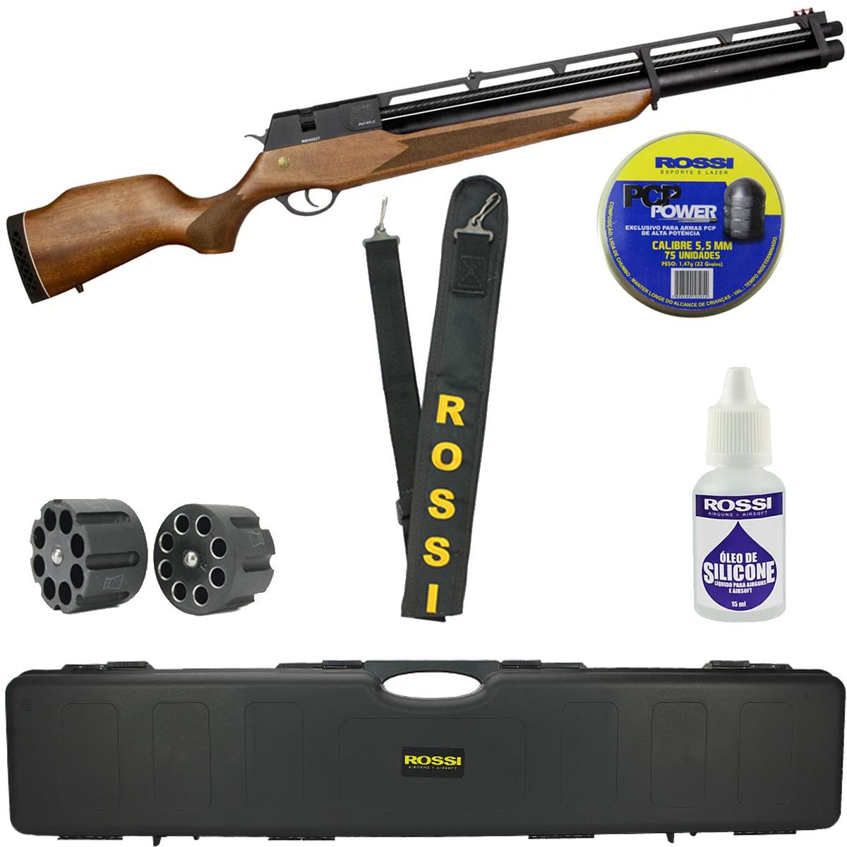 Carabina de Pressão R8 PCP Madeira 5.5mm - Rossi