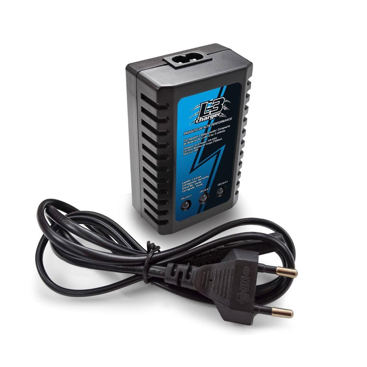Carregador / Balanceador Bateria Lipo Leao L3 Original 2S/3S