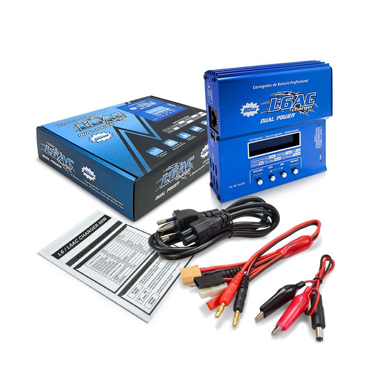 Carregador / Balanceador Bateria Lipo Leao L6AC Original